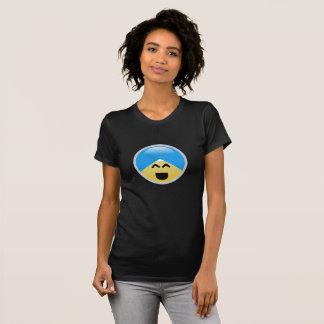 T-shirt alegre americano de Emoji do turbante do