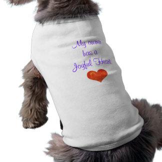 T-shirt alegre do cão do coração camisetas para caes
