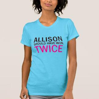 T-shirt Allison deve ter ganhado duas vezes