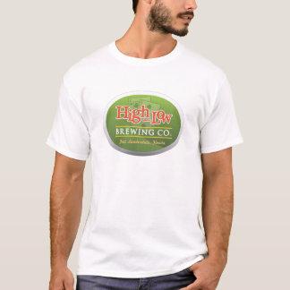 T-shirt alto baixo da cervejaria