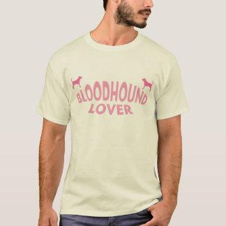 T-shirt Amante do Bloodhound (rosa)