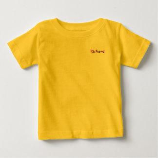 T-shirt amarelo do jérsei da multa do bebê de