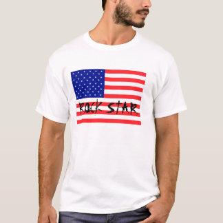 T-shirt americano da estrela do rock