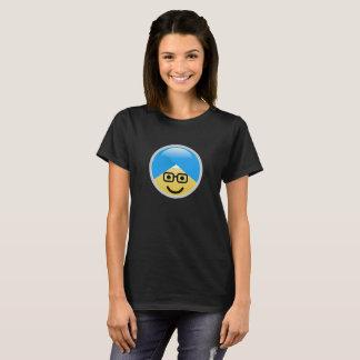 T-shirt americano de Emoji do turbante do nerd do