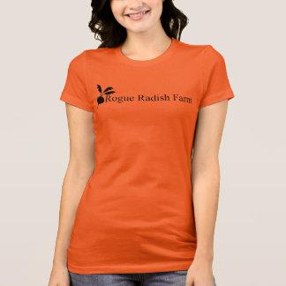 T-shirt americano do roupa da fazenda desonesto do