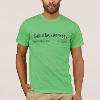 T-shirt americano do roupa do verde da cervejaria