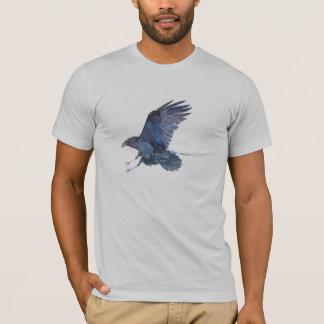T-shirt americano do roupa dos homens do corvo