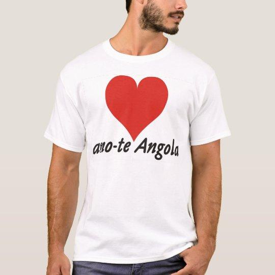 T-shirt - amo-te Angola - de coração - branca