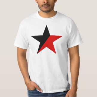 T-shirt Anarquismo preto e vermelho do