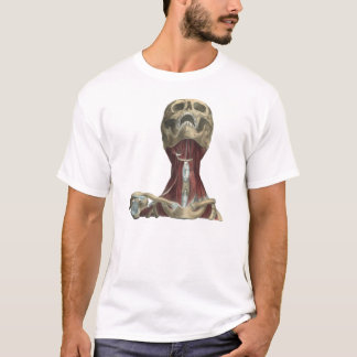 T-shirt Anatomia humana dos músculos do crânio e do