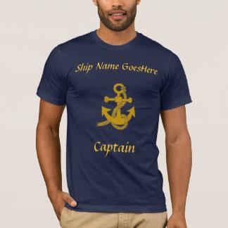 T-shirt - âncora, nome do navio