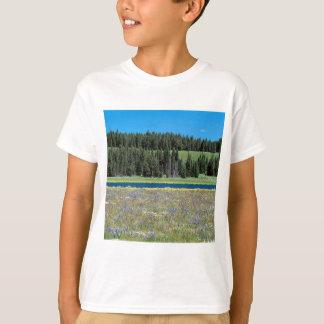 T-shirt Angra Yellowstone Wyoming do pelicano da cena