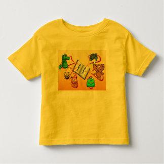 T-shirt animal colorido do alfabeto