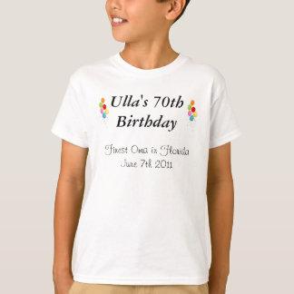 T-shirt Aniversário do 70 de Anthony - de Ulla