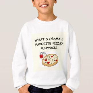 T-shirt anti piada da pizza de obama