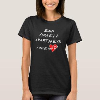 T-shirt Apartheid do israelita da extremidade