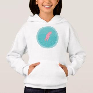 T-shirt aquático do caráter do calamar