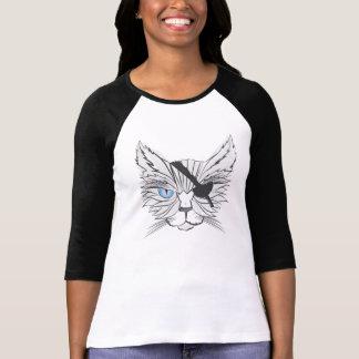T-shirt Arte #1 do fã dos gatos do pirata