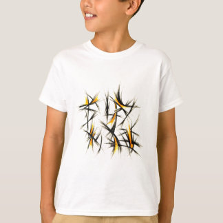 T-shirt Arte abstrata do design da cor