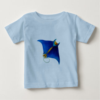 T-shirt arte do raio de manta