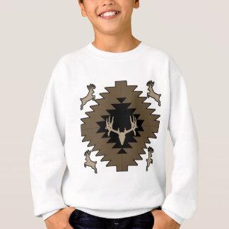 T-shirt Arte indiana americana dos cervos do fanfarrão