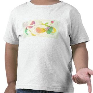 T-shirt artístico da criança da flor