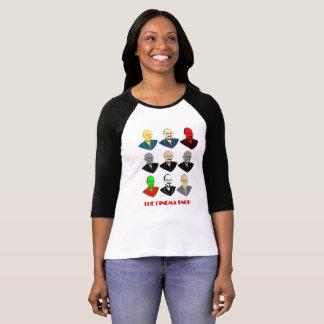 T-shirt As caras do snobe do cinema - a 3/4 de luva das