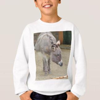 T-shirt Asno doce, cinza animal, família do cavalo