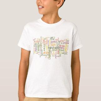 T-shirt Atitude positiva inspirador das palavras #2