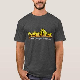 T-shirt ativo do logotipo do domínio da voz -