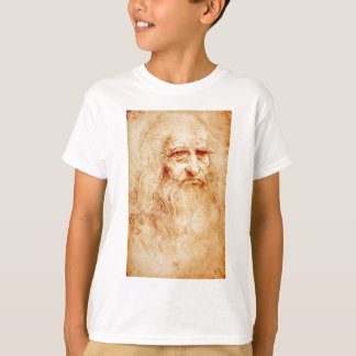 T-shirt Auto-Retrato de Leonardo da Vinci cerca de