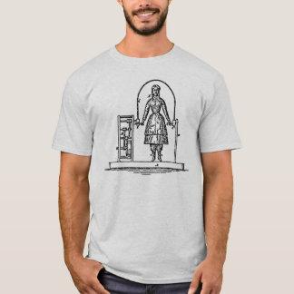 T-shirt automático do capitão da corda