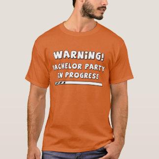 T-shirt Aviso! Despedida de solteiro em andamento!
