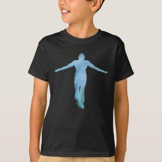 T-shirt Azul de aumentação