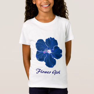 T-shirt azul tropical do florista do casamento do