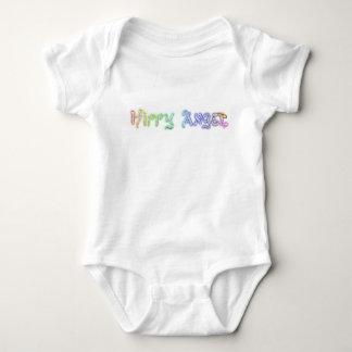 T-shirt Babygro com logotipo do anjo do hippy