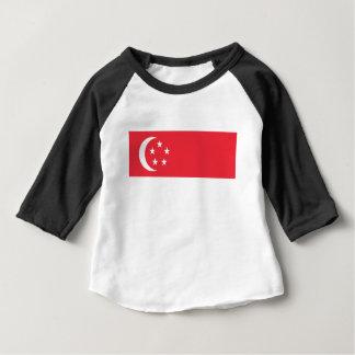 T-shirt Baixo custo! Bandeira de Singapore