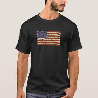 T-shirt Bandeira americana desvanecida da glória