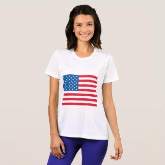 T-shirt Bandeira dos Estados Unidos da bandeira dos EUA