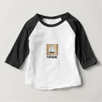 T-shirt barco de navigação lisa