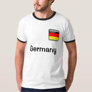 T-shirt básico da campainha dos homens da bandeira