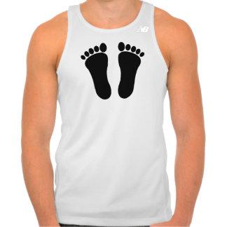 T-shirt básico da campainha dos homens da pegada