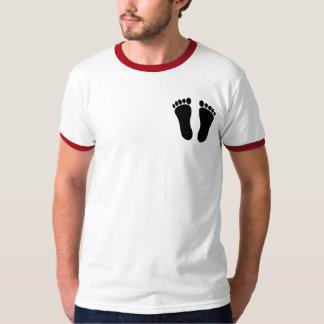T-shirt básico da campainha dos homens feitos sob