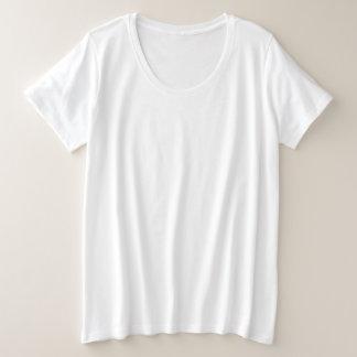 T-shirt básico do Mais-Size das mulheres