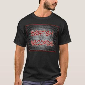 T-shirt Bata-os T preto dos registros