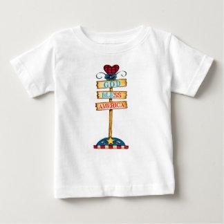 """T-shirt bebê de América dos deus abençoe do """""""