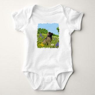 T-shirt Bebê Ludwig o Bodysuit do filhote de cachorro de