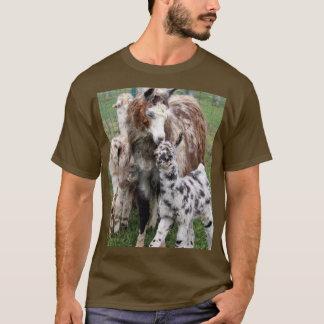 T-shirt Beijo do lama do Mama & do bebê
