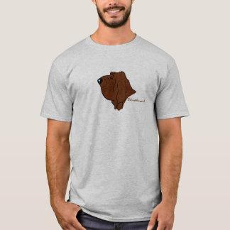 T-shirt Bloodhound cabeça silhueta