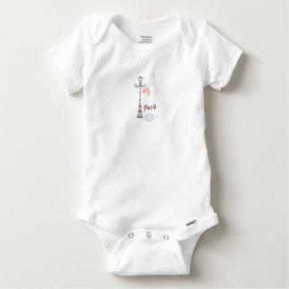 T-shirt Body Algodão Bebé Paris